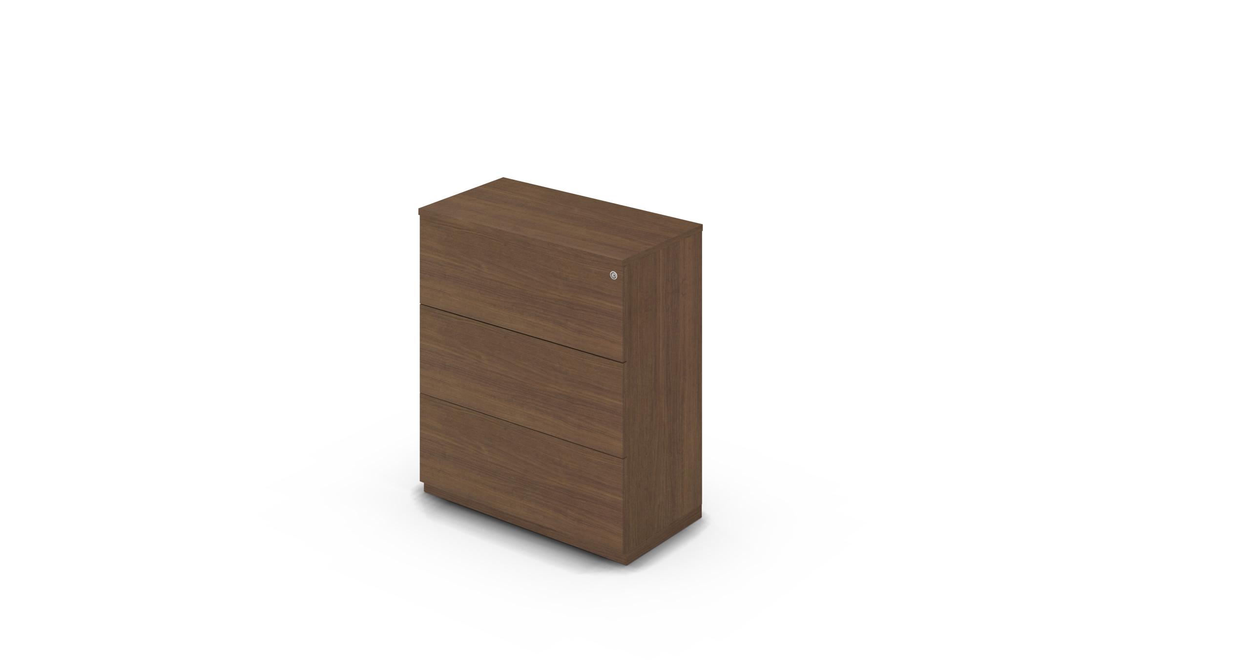 Cabinet_900x450x1125_DR_Walnut_Push_WithCylinder