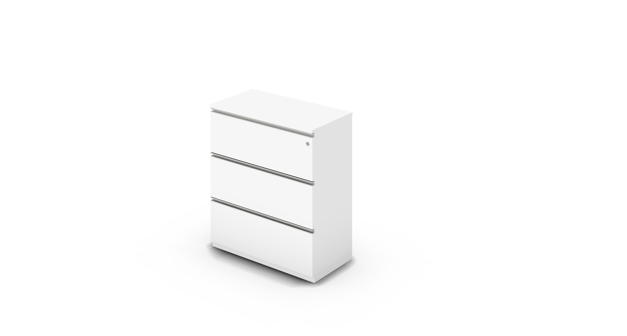 Cabinet_900x450x1125_DR_White_Rail_WithCylinder