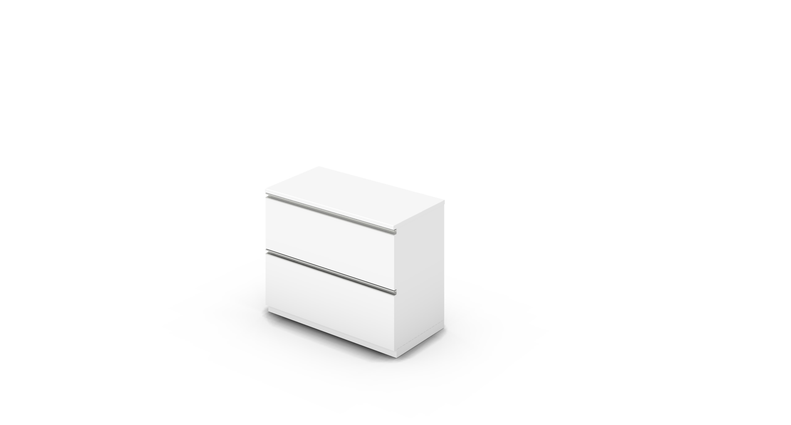 Cabinet_900x450x775_DR_White_Rail_NoCylinder