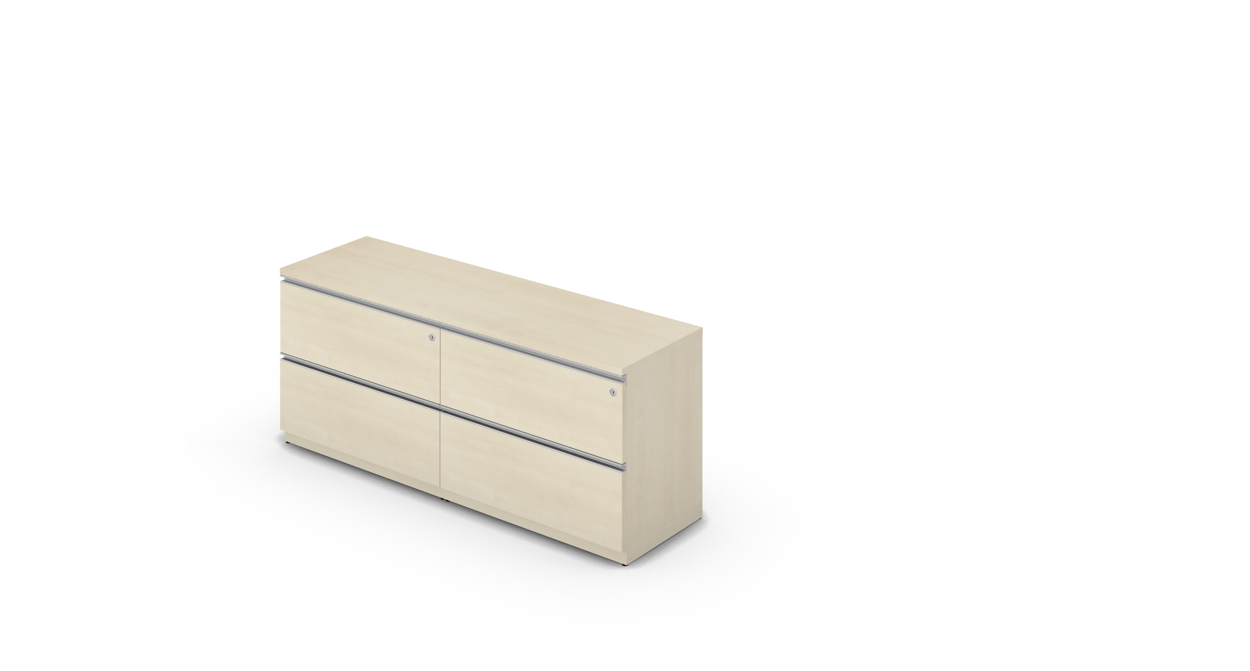 Credenza_1600_Box_2D_Maple_Rail_withCylinder