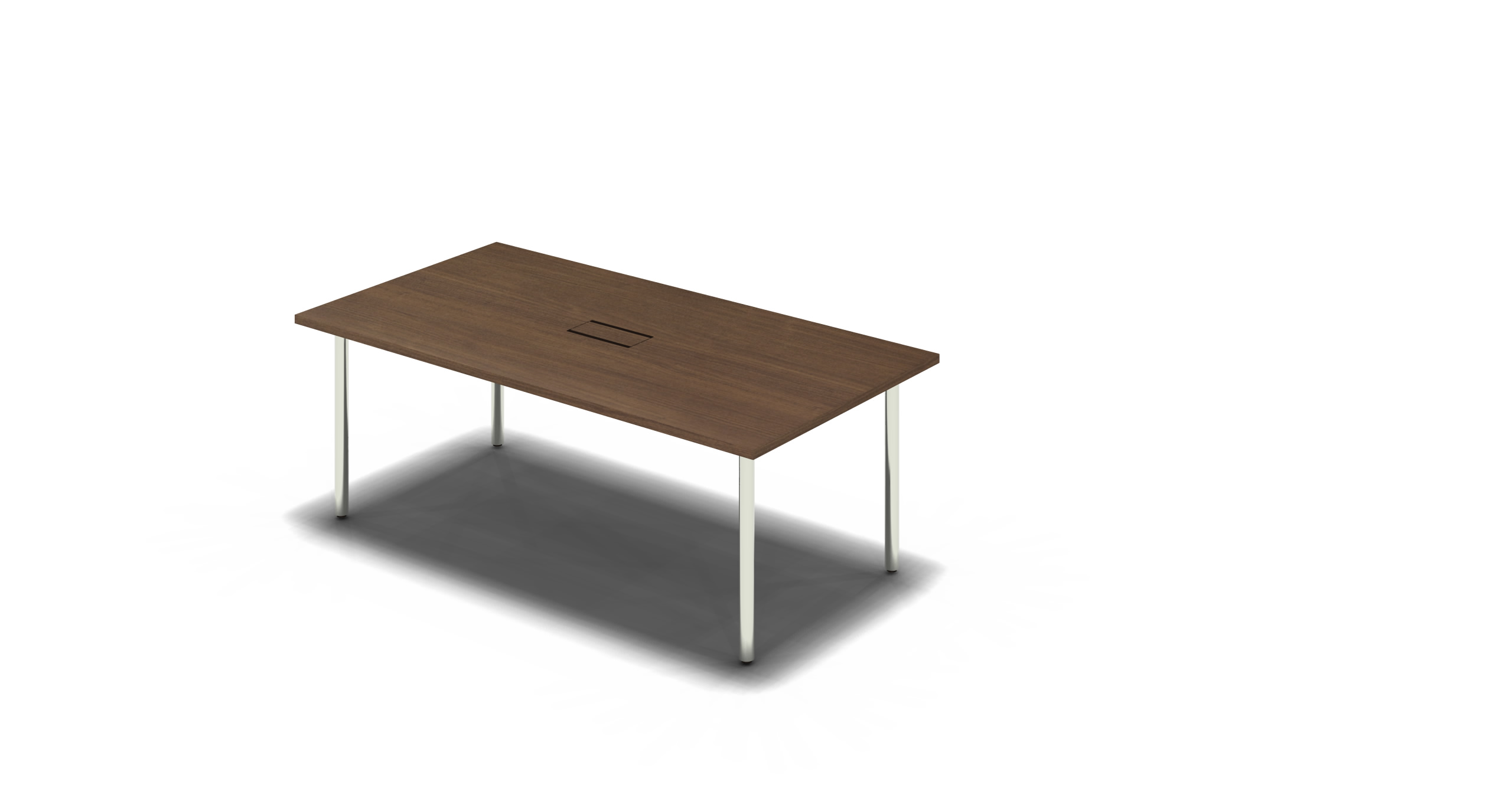 Table_Round_1800x900_Chrome_Walnut_withOption