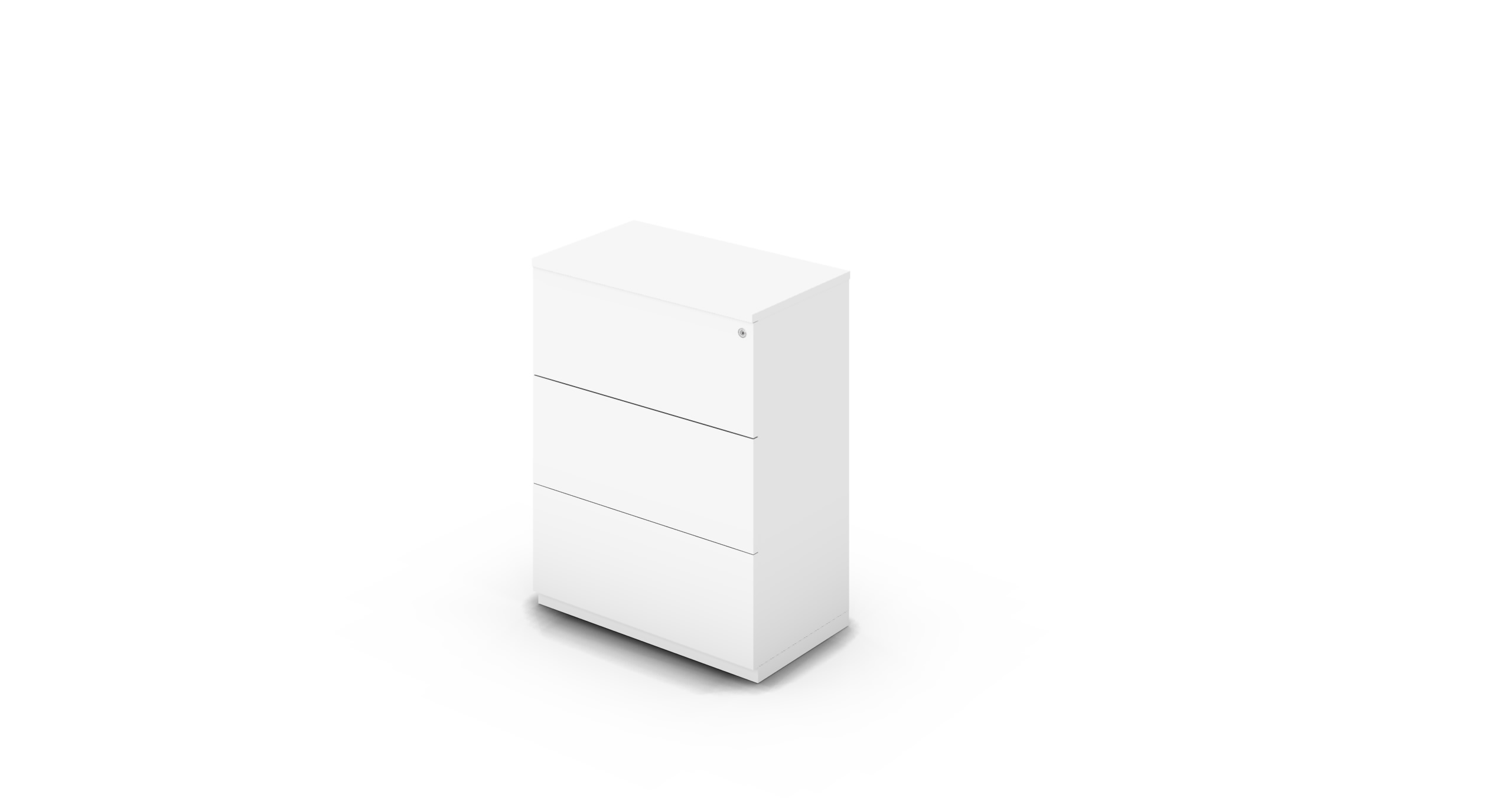 Cabinet_800x450x1125_DR_White_Push_WithCylinder