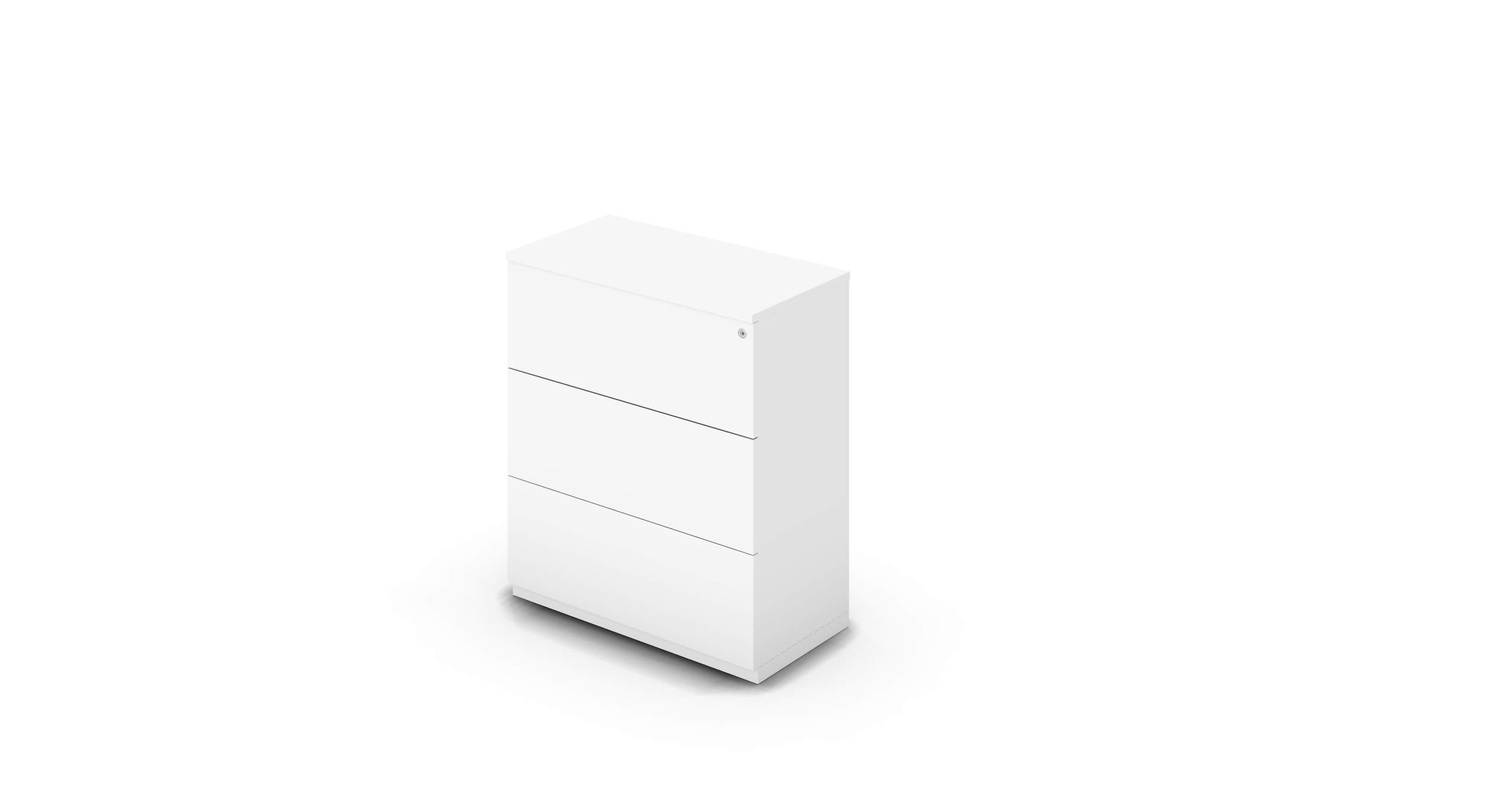 Cabinet_900x450x1125_DR_White_Push_WithCylinder
