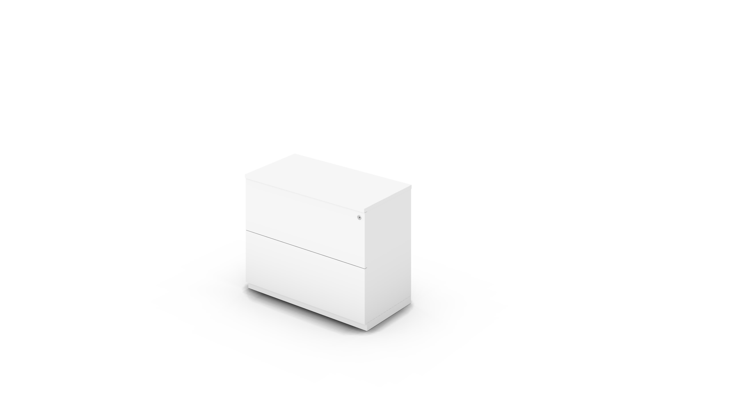 Cabinet_900x450x775_DR_White_Push_WithCylinder